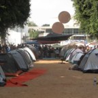 עיר האוהלים בשד' רוטשילד מול כיכר הבימה
