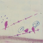 אומנות רחוב: בסטינג ציפורים מדברות