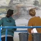 כיכר התרבות – חלק ג' שחזור ציור הקיר של איוון שוובל